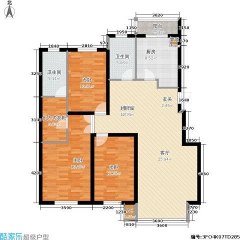恒泰骏景3室0厅2卫1厨152.00㎡户型图