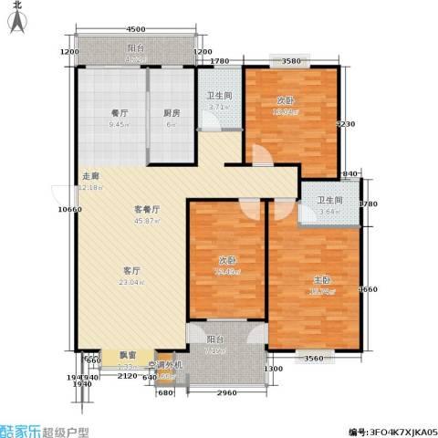 圣源新居3室1厅2卫1厨114.07㎡户型图