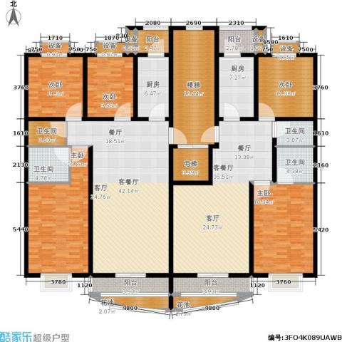 雅川家园5室2厅4卫2厨218.95㎡户型图