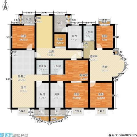 雅川家园4室1厅3卫3厨169.40㎡户型图