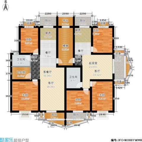 雅川家园5室1厅3卫0厨134.48㎡户型图