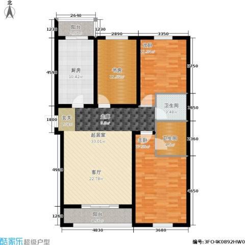 水映兰庭3室0厅2卫1厨141.00㎡户型图