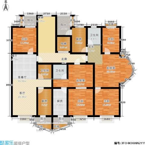 雅川家园4室1厅3卫3厨191.01㎡户型图