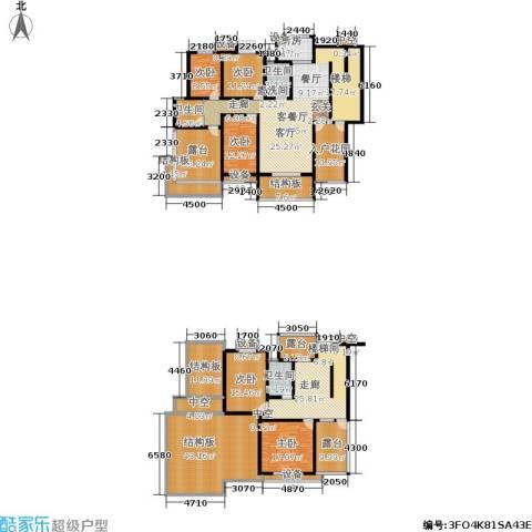 天元吉第城5室1厅3卫1厨284.41㎡户型图
