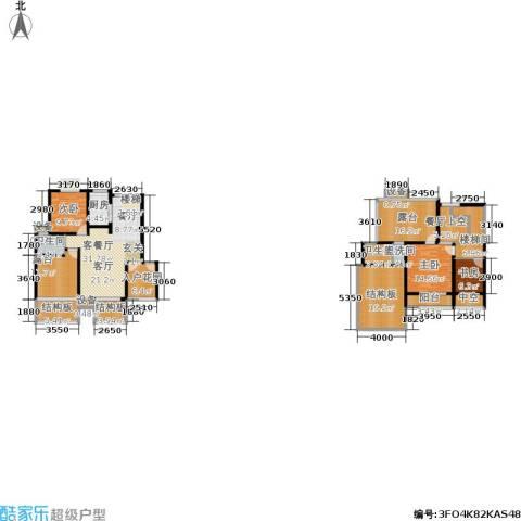 天元吉第城3室1厅2卫1厨157.60㎡户型图