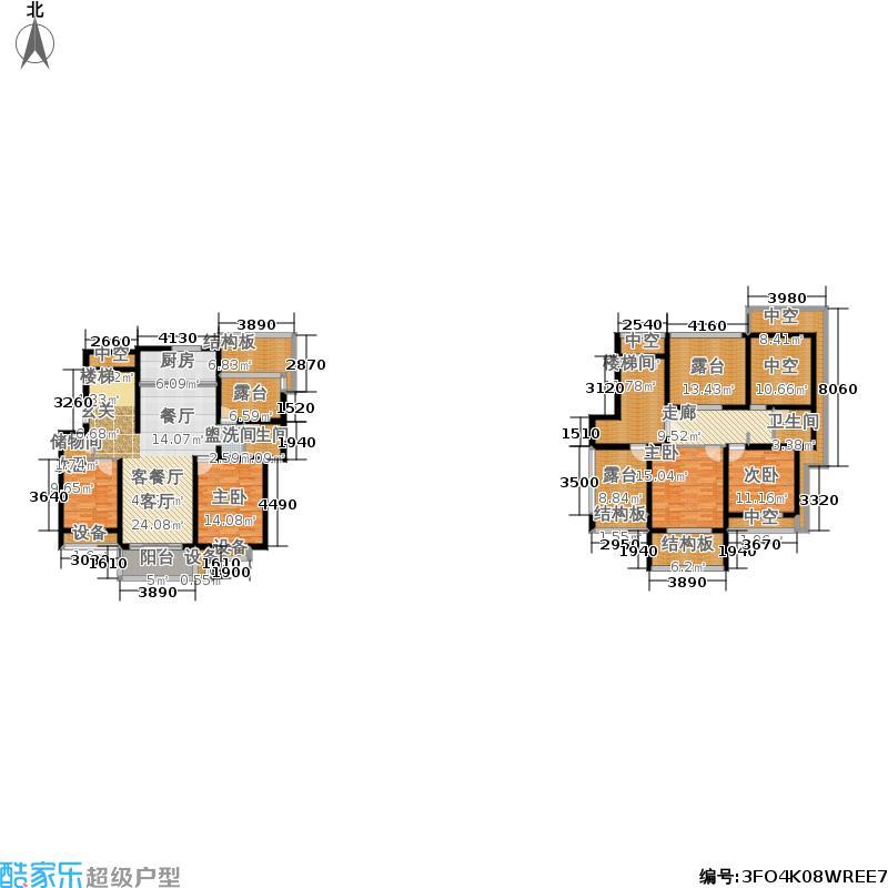 天元吉第城65.35㎡跃层-105平方米-4套户型