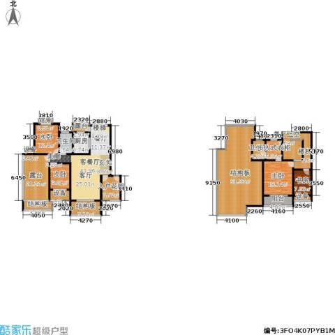 天元吉第城4室1厅2卫1厨237.88㎡户型图