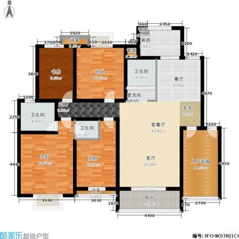 天元吉第城4室1厅3卫1厨140.00㎡户型图