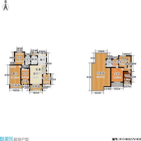天元吉第城4室1厅2卫1厨235.81㎡户型图