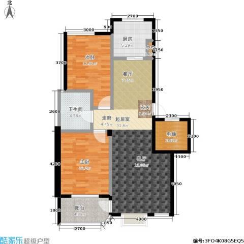 锦府桃源2室0厅1卫1厨105.00㎡户型图