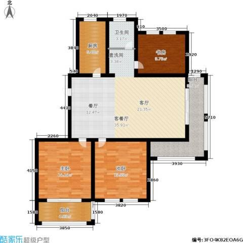 欧风丽苑3室1厅1卫1厨110.00㎡户型图