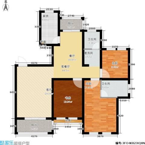 欧风丽苑3室1厅2卫1厨127.00㎡户型图