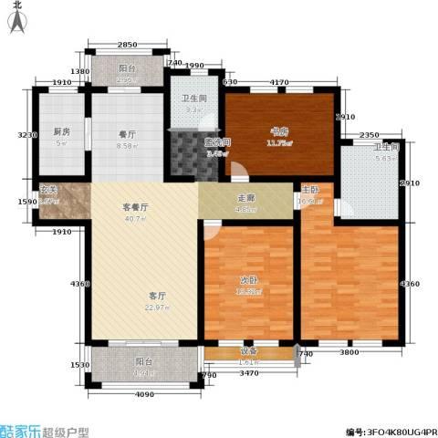 欧风丽苑3室1厅2卫1厨123.00㎡户型图