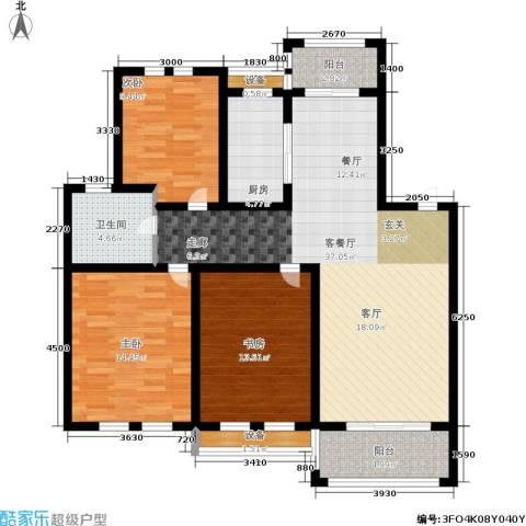 欧风丽苑3室1厅1卫1厨109.00㎡户型图