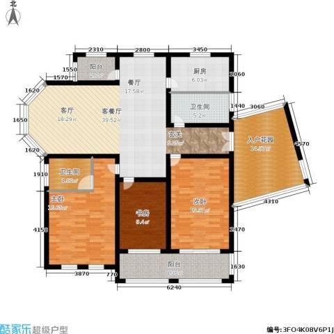 欧风丽苑3室1厅2卫1厨140.00㎡户型图