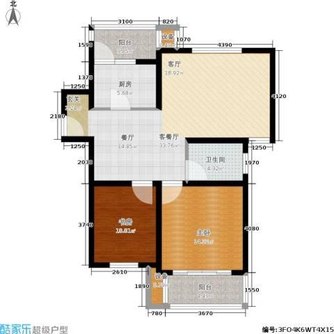 东兰兴城惠兰苑2室1厅1卫1厨112.00㎡户型图