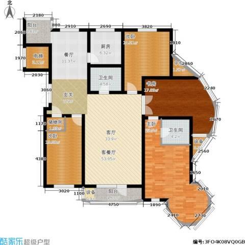 明城花园4室1厅2卫1厨170.00㎡户型图