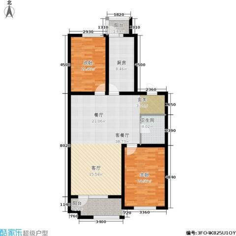 明城花园2室1厅1卫1厨110.00㎡户型图