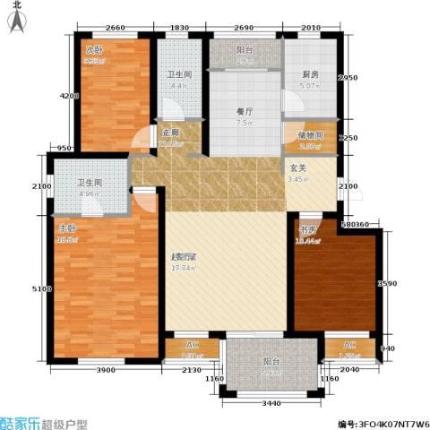 保利花园第六区3室0厅2卫1厨140.00㎡户型图