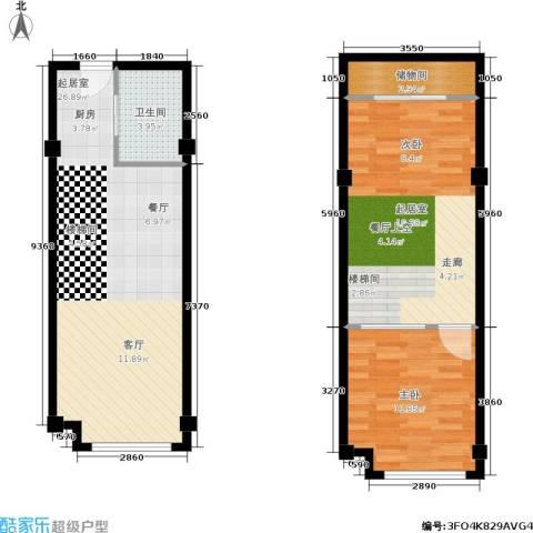 宁波大公馆1室0厅1卫0厨65.02㎡户型图