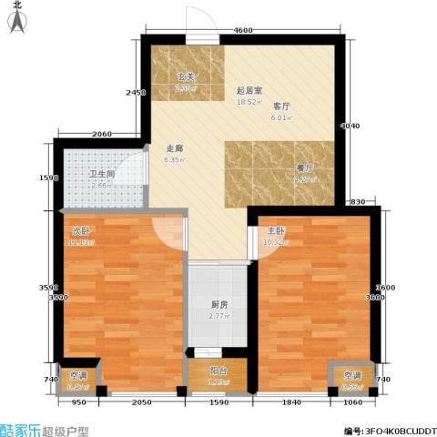 佰世雅阁2室0厅1卫1厨69.00㎡户型图
