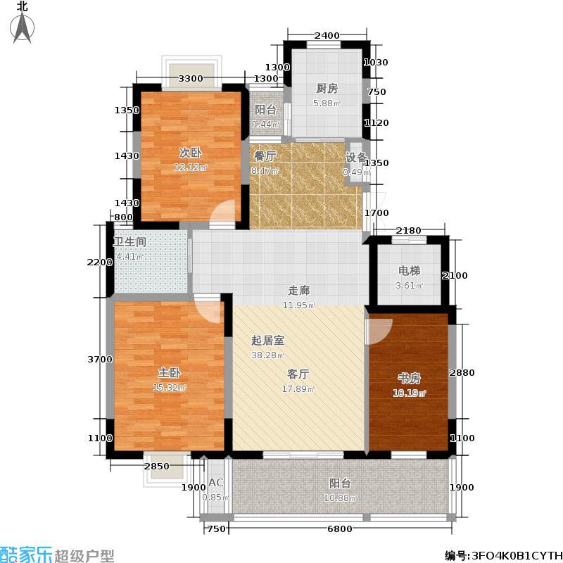 国信・阅景龙华户型3室1卫1厨