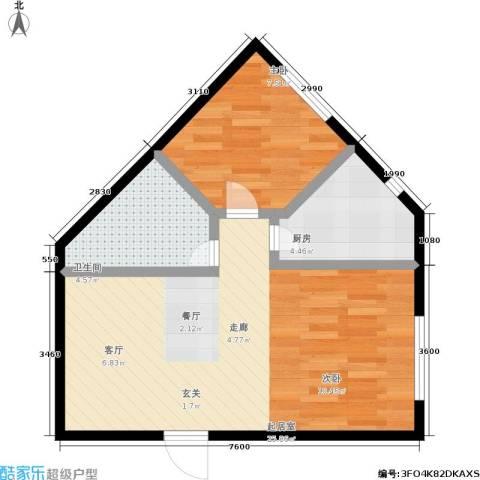 万丰・王子公寓1室0厅1卫1厨60.00㎡户型图