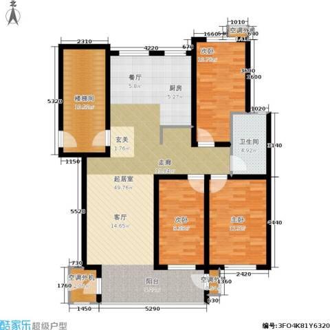 秦淮缘小区3室0厅1卫0厨115.00㎡户型图