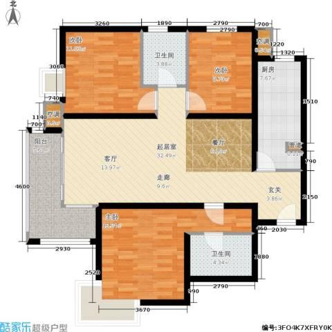 第一城A组团3室0厅2卫1厨120.00㎡户型图
