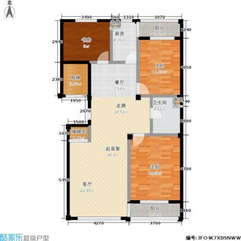 云华园二期3室0厅1卫1厨110.00㎡户型图