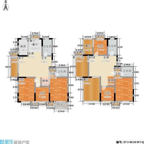 滨河御景6室1厅4卫1厨291.00㎡户型图