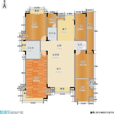康桥圣菲3室0厅2卫1厨129.00㎡户型图