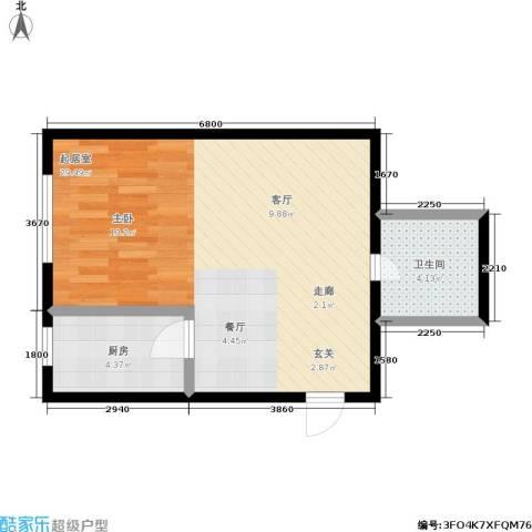 万丰・王子公寓1卫1厨40.00㎡户型图