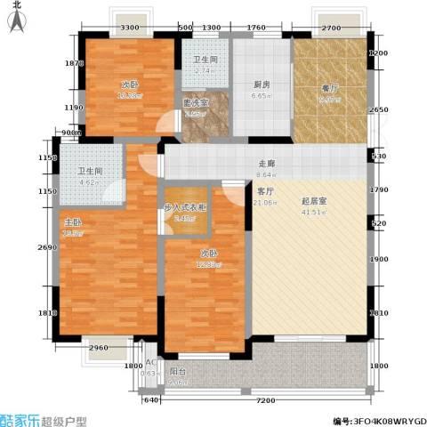 国信・阅景龙华3室0厅2卫1厨115.00㎡户型图
