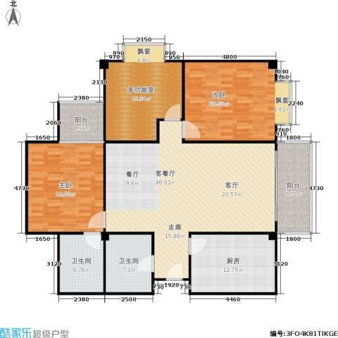 丹尼尔世纪广场2室1厅2卫1厨149.00㎡户型图