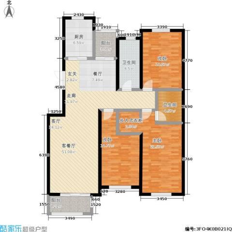 锦麟3室1厅2卫1厨175.00㎡户型图