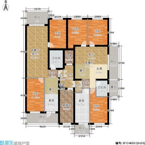 风车小镇5室2厅2卫1厨232.00㎡户型图