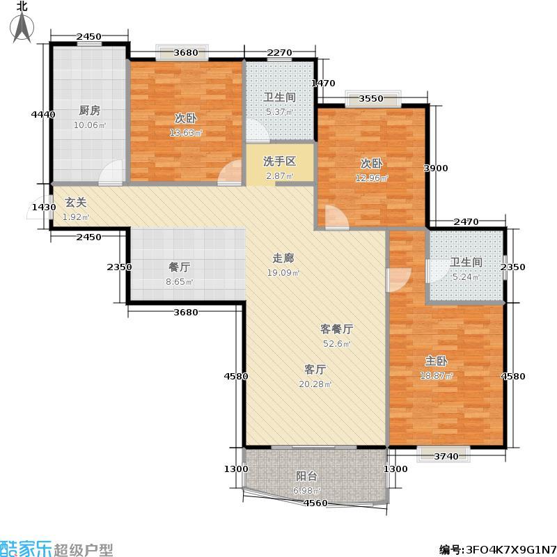 城市经典134.00㎡房型户型