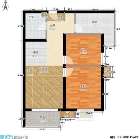第一城A组团2室0厅1卫1厨90.00㎡户型图