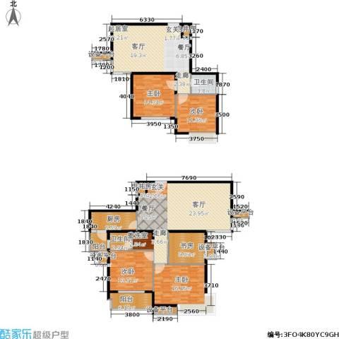亚东国际公寓5室0厅2卫1厨182.00㎡户型图