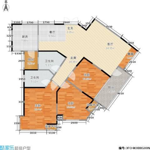 嘉业阳光城1室0厅2卫1厨110.00㎡户型图