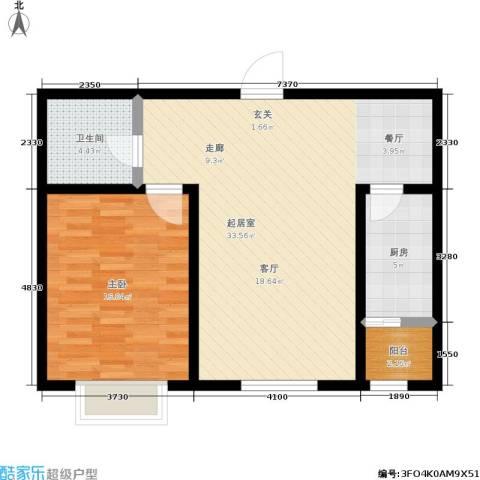 幻景家园1室0厅1卫1厨70.00㎡户型图