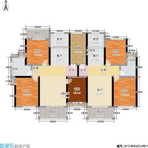 金地康城5室0厅2卫2厨181.60㎡户型图