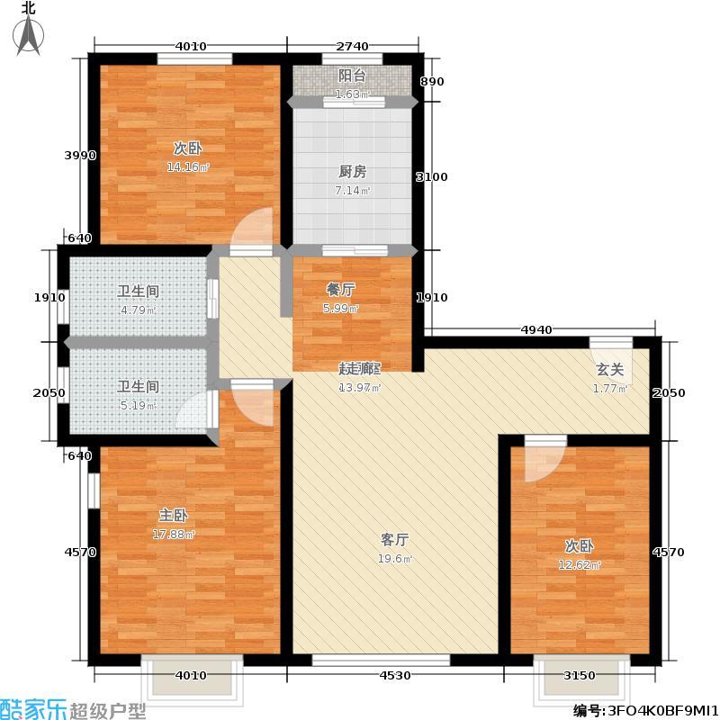 幻景家园119.80㎡2号楼D-1户型