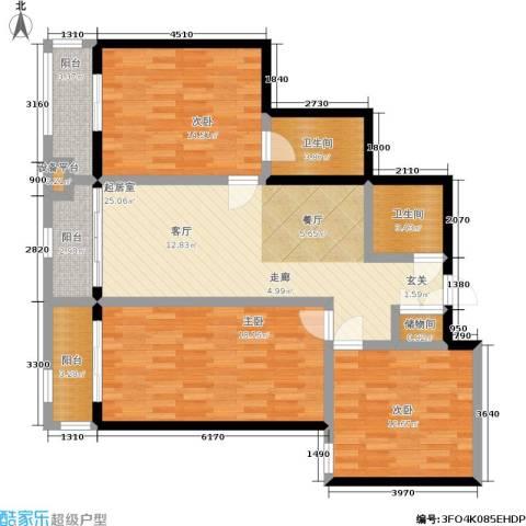 碧水云天3室0厅2卫0厨103.00㎡户型图