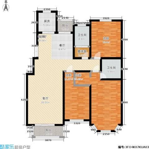 锦麟3室1厅2卫1厨171.00㎡户型图