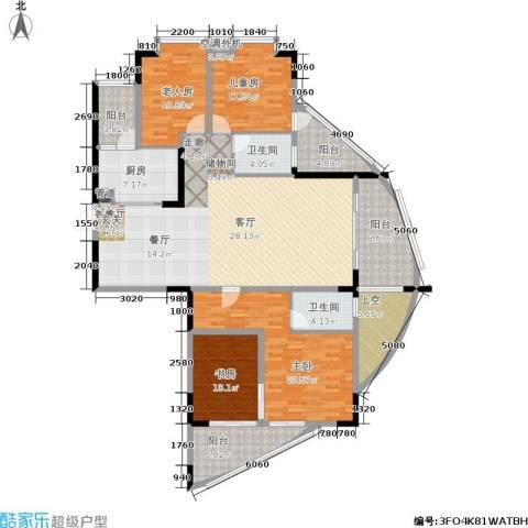 美林・银谷4室1厅2卫1厨175.00㎡户型图