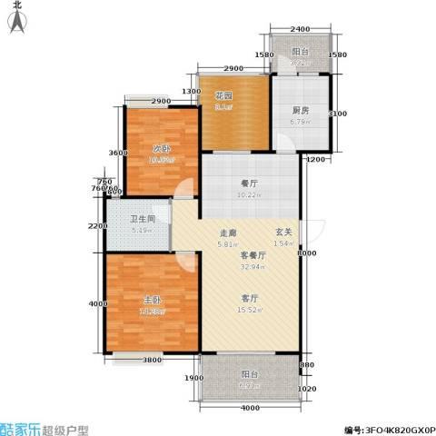 朗悦湾2室1厅1卫1厨99.00㎡户型图