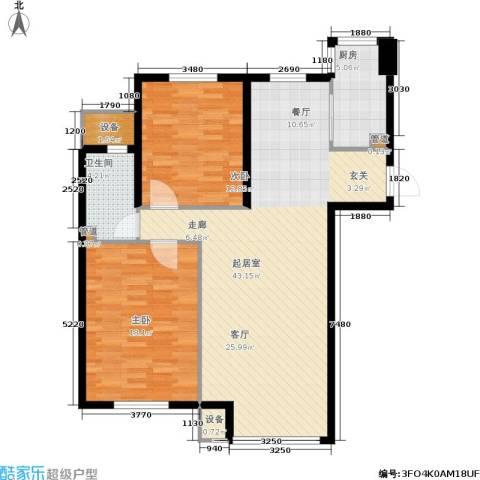 中房上东花墅二期2室0厅1卫1厨95.00㎡户型图