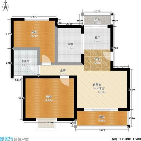 尊园2室0厅1卫1厨82.00㎡户型图